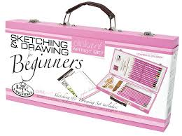 royal u0026 langnickel pink art beginner sketching u0026 drawing set