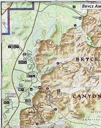 National Parks Utah Map by Trail Map Of Bryce Canyon National Park Utah 219 National