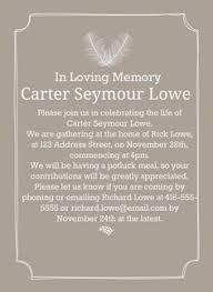 funeral invitation wording invitation wording celebration of invitation memorial