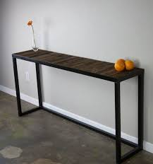 wood and iron sofa table wrought iron console table legs wrought iron console table in within
