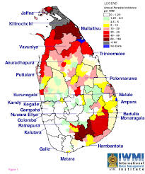 Map Of Sri Lanka Sri Lanka Malaria Maps Malaria Journal Full Text