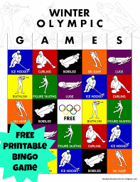 Printable Halloween Bingo by Relentlessly Fun Deceptively Educational Olympic Winter Games Bingo