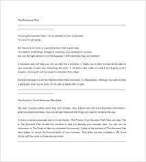 microsoft business plan template 17 free example sample format