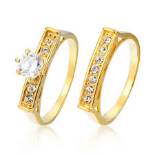 aliexpress buy gents rings new design yellow gold geometric design yellow gold color wedding ring sets