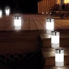 Patio Floor Lighting 6x Solar Powered Floor Garden Light Outdoor Patio Path Driveway