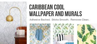 tropical removable wallpaper cool palm designs wallsneedlove