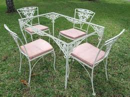 Wrought Iron Patio Tables Sale  Smashingplatesus - Antique patio furniture