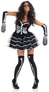 skeleton bones halloween ladies skeleton bones tutu halloween fancy dress costume