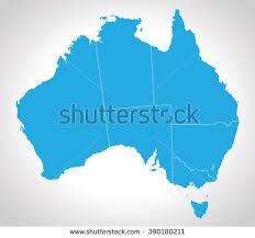 map od australia free state map of australia free vector stock