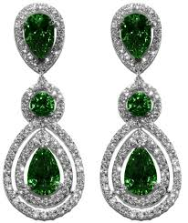 chandelier earrings louisa emerald pear halo chandelier earrings cubic zirconia
