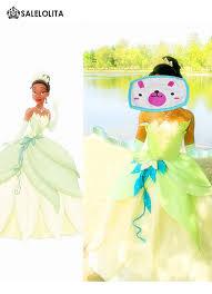 Frog Halloween Costumes Princess Frog Cosplay Princess Tiana Dress