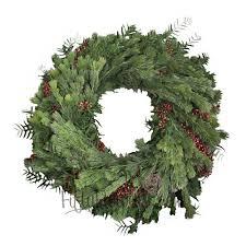 fresh wreaths woolly bush and pepperberry wreaths