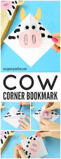 cow corner bookmarks easy peasy and fun