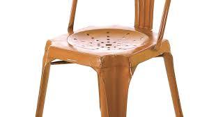 Lot De 4 Chaise Industrielle Métal Cuivré Indus Lot De 2 Chaises Style Industriel Orange Usée