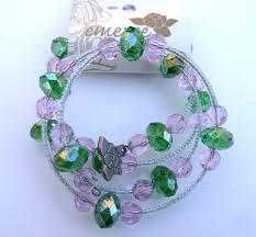 crystal pink bracelet images Emerge global bracelet green crystal pink crystal white beads jpg