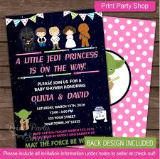 wars baby shower ideas girl wars baby shower invitation baby by printpartyshop