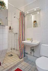 bahtroom streaky curtain for walk in shower closed space saving