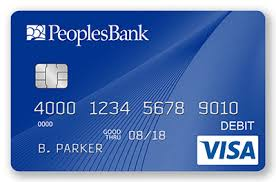 debit card for peoplesbank personal debit cards