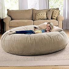 amazon com sofa sack bean bags6 u0027 large bean bag lounger camel