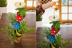 diy vertical herb garden diy vertical herb garden made of pots cute idea for your kitchen