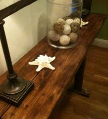 Upcycled Console Table Upcycled Console Table Made From Pallets Pallet Stuff Sofa Table
