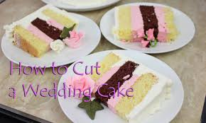 how to cut a wedding cake youtube