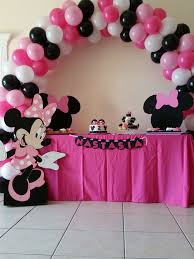 Pink And Black Minnie Mouse Decorations Diy Minnie Mouse Mickey Mouse Arch Bow Bow Minnie Mouse And