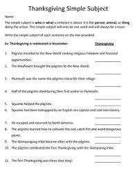 freebie simple subject and simple predicate worksheets