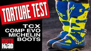 tcx boots motocross motohead tests tcx comp evo michelin motocross boots youtube