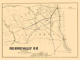 Map Of Southern States Old Railroad Map Fox River Valley Railroad 1857