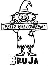 imagenes de halloween para imprimir y colorear de bruja en halloween para imprimir y pintar