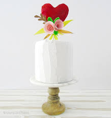 heart cake topper paper mache heart with paper flowers cake topper marquesa farms