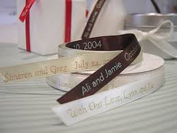 personalized ribbon for wedding favors personalized bridal satin ribbon custom imprinted ribbon favor