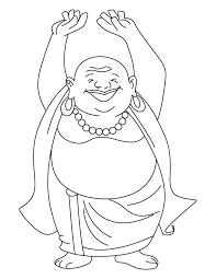 Laughing Buddha Coloring New Year Fill Me With All Pleasures For Buddhist Coloring Pages