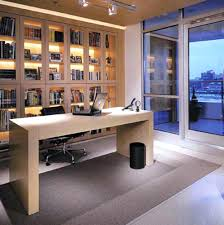 office design black wood table dark gray chair brown base