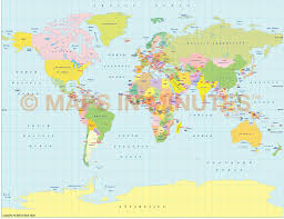 The World Political Map by Vector World Political Map In The Gall Projection Uk Centric In