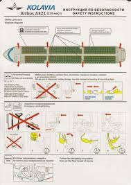 Airbus A320 Floor Plan by Safety Card Metrojet Airbus A321 1