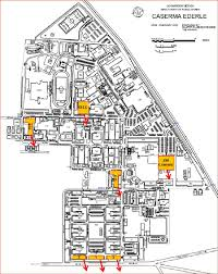building site plan figure 40 caserma ederle site plan with marked buildings