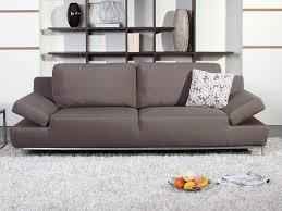 canapé marron clair canape fixe 3 places tissu maison design hosnya com
