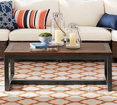 teak coffee table pottery barn au