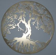 amazing golden tree of life metal wall art decor sculpture ideas