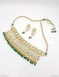 green color necklace set images Buy beautiful green jadau kundan necklace set online high quality jpg