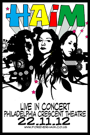 haim poster haim poster by andy2519 on deviantart