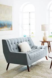 Comfortable Chairs For Small Spaces by Cece Surf Blue Loveseat Mid Century Design Small Spaces And