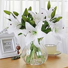 amazon com artificial flowers meiwo 5 pcs nearly natural
