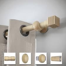 douille en bois tringle à rideau à composer inspire archi design d28 chene clair