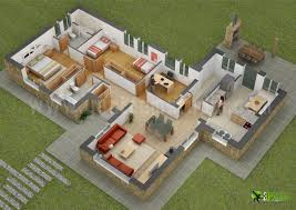 House Designs And Floor Plans Tiny House Floor Plans Small Residential Unit 3d Floor Plan 3d
