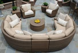 Round Outdoor Sofa Décor Your Outdoors With Sterling Finishes Of Sectional Patio