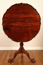 pie crust end table hand made walnut pie crust tea table in the philadelphia style by