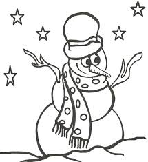 snowman coloring pages getcoloringpages